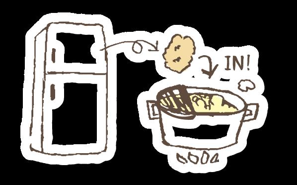 150〜160℃の油を用意(菜箸を入れてみて細かい泡が出るくらい)