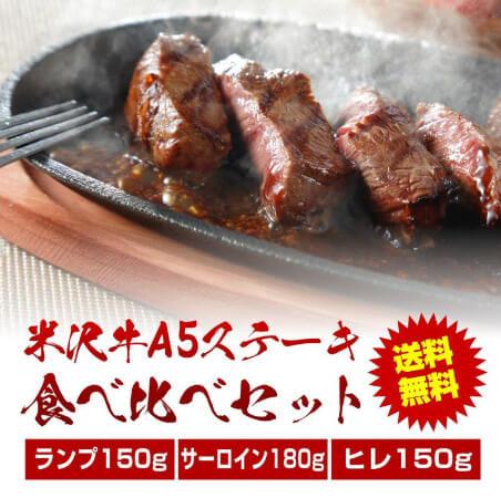 米沢牛A5ステーキ食べくらべセット